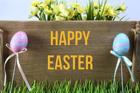 Happy Easter magic card photo