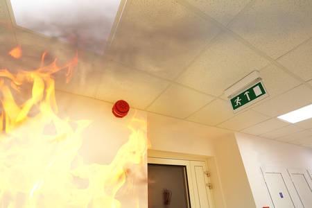 emergency sign: Fire alarm! Stock Photo
