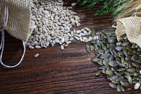 semillas de girasol: Saludable de calabaza y semillas de girasol