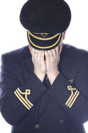 epaulets: Crying pilot in uniform