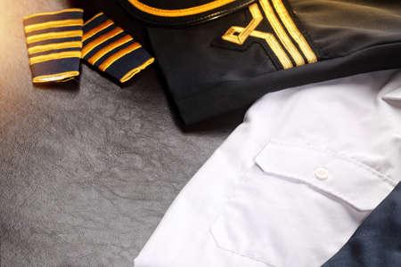 epaulets: captain uniform abstract Stock Photo
