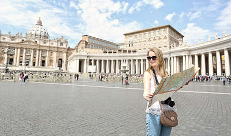 Young girl visits the Vatican