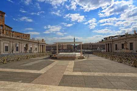 basilica of saint peter: View from the Basilica to St. Peter