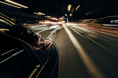illegal substance: Night driving abstract