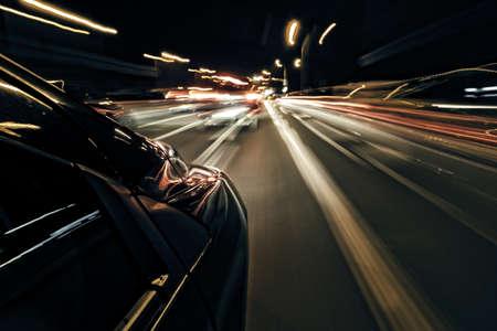 S nachts rijden abstract