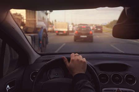 mermelada: Atasco de tráfico en la carretera