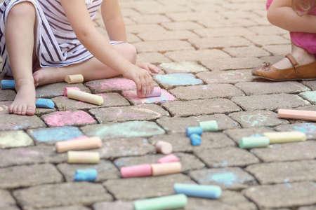 street art: Summer painting chalk
