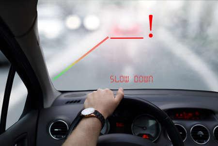 Head-up systeem in de auto Stockfoto - 46180199