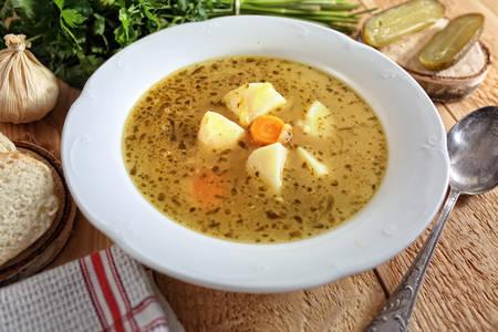 Suppe als eine warme Mahlzeit