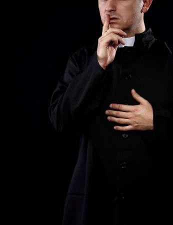 Secrets of priest Banque d'images