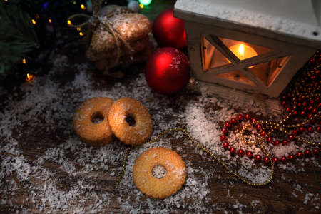 stupendous: Family atmosphere of Christmas - lantern and sweets