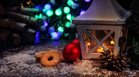 stupendous: Family atmosphere of Christmas - lantern and cookies