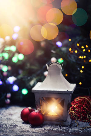 stupendous: An atmospheric Christmas card Stock Photo
