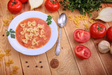 mouthwatering: Fresh and delicious tomato soup