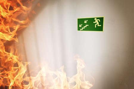evacuacion: Incendio en el edificio
