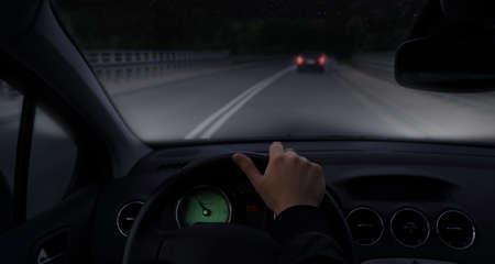 xenon: Driving car by night