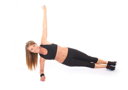 athletic girl: Young athletic girl practicing fitness