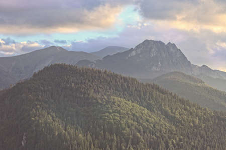 giewont: Beautiful view of the Giewont in Polish Tatra mountains