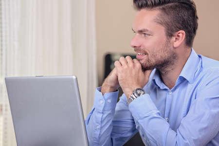 perfectionist: pensive businessman
