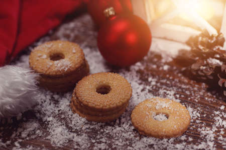 stupendous: Christmas candys on beauty moody night Stock Photo