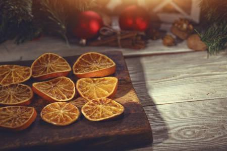 christmas winter: Christmas winter preparations at home Stock Photo