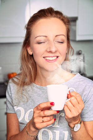 aromatic coffee in the morning Stock Photo