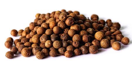 allspice spice on white background Stock Photo