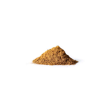 turmeric spice on a white background