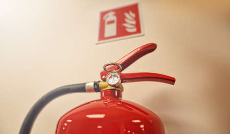 fire extinguisher at work place in the office