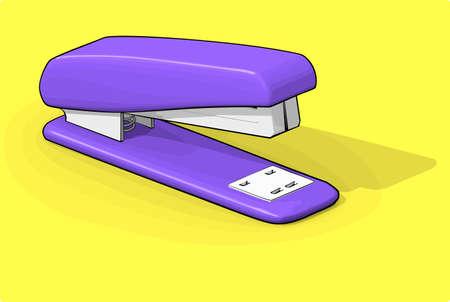 grapadora: Purple grapadora Vectores