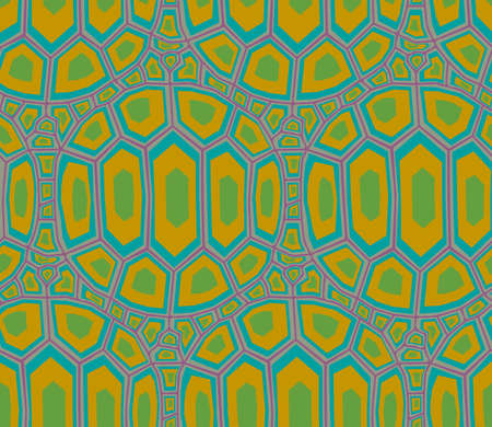 seamless turtle shell pattern Illustration