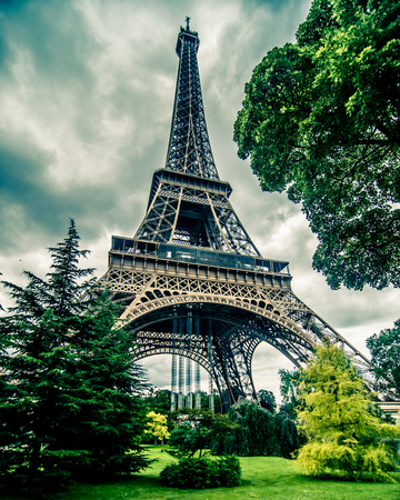 Eiffel Tower in HDR photo