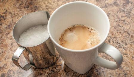 Milk and Espresso Фото со стока