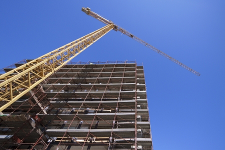construction site with tower crane photo