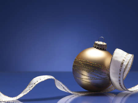 christmas ball on the blue background