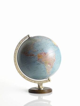 beyaz zemin üzerine küre, toprak haritası, Stock Photo