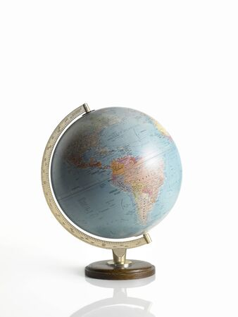 globe, map of the earth, on white background