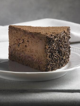 sweet food dessert, chocolate cake, on a shelf of marble