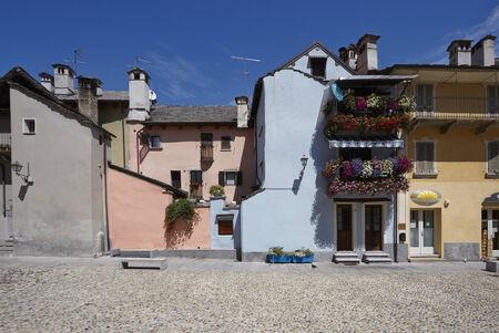Domodossolas historic center, tourist Italian towns