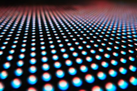 Texture of colored LED lights on a black background Stock Photo