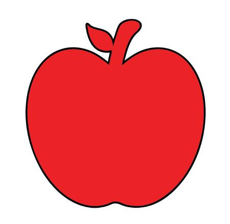dibujo de una manzana roja Foto de archivo - 879894
