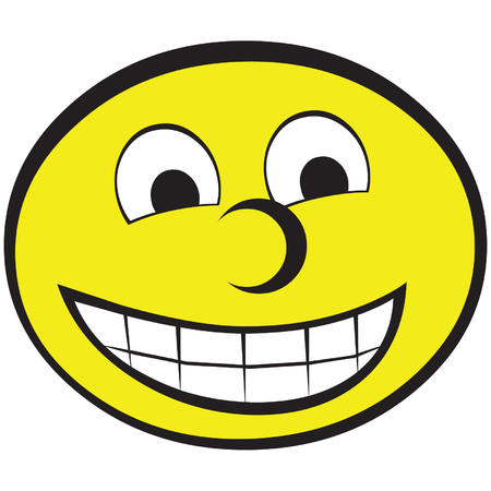 Yellow smiley face with teeth Stock Vector - 3001335