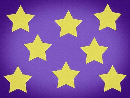 Illustration of yellow stars against a purple gradient backdrop illustration