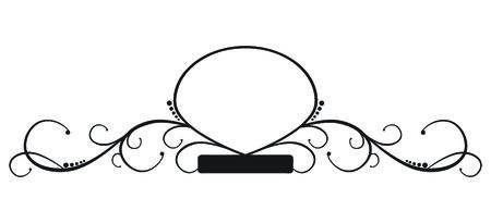 eleganz: Eine elegante, kurvige, verzieren banner