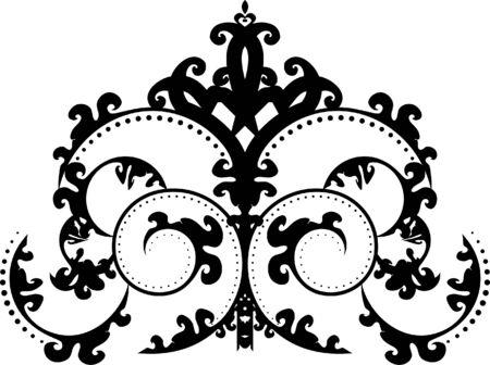 An elegant, regal, intricate vector ornament illustration