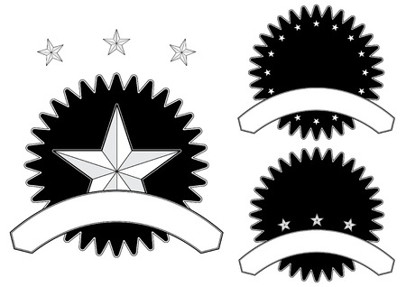A set of star themed seals ideal for awards and recognition giving Stock Vector - 7881400