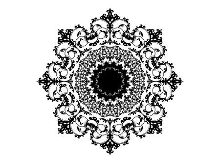 intricate: A very intricate and elegant round ornament design