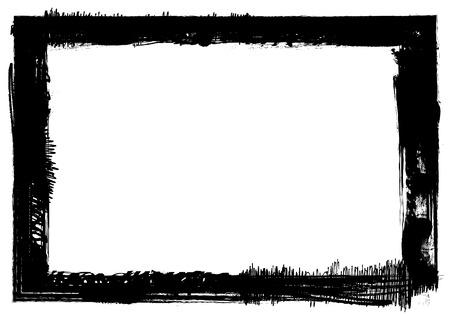 ragged: Rectangular grunge frame
