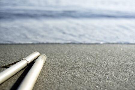 ビーチの休日海方向