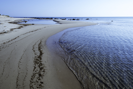 海とヴィエステ ガルガーノ、プーリア、イタリアのビーチと美しい湾